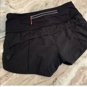 Black Lululemon speed shorts size 2